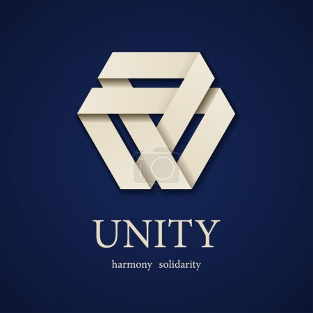 unity paper triangle icon design template