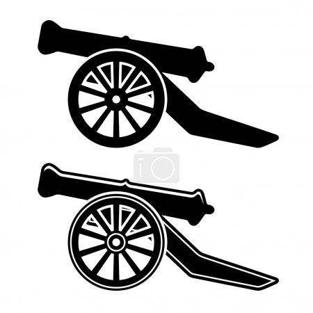 Ancient cannon symbol - illustration for the web...