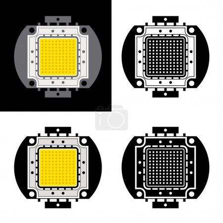 power LED energy saving chip symbols