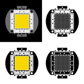 Power LED energy saving chip symbols - illustration for the web