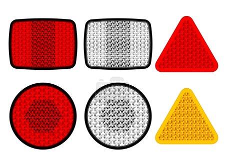 safety reflectors red white orange