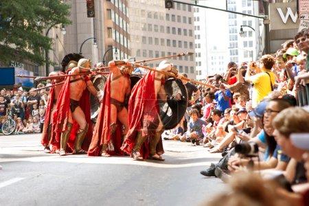 Spartan Warriors Ready Their Spears