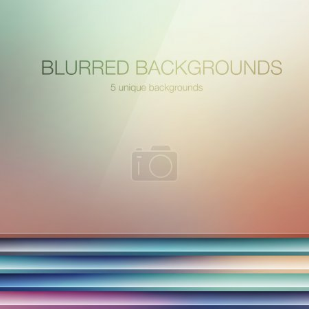 Photo for 5 vector blurred backgrounds - Royalty Free Image