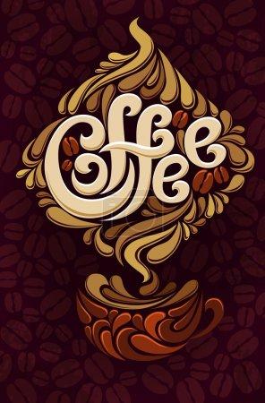 Illustration pour Modèle de conception de café - image libre de droit