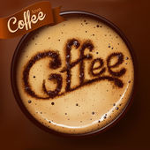 Poster with a coffee cup