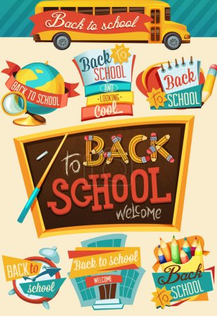 Illustration for Back to school design template - Royalty Free Image