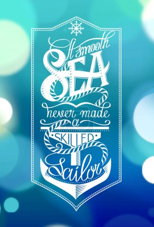 Illustration for Vector hand drawn anchor card - Royalty Free Image