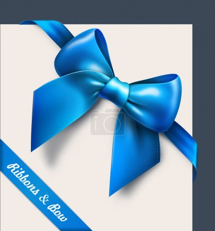 Illustration for Blue bow. Vector - Royalty Free Image