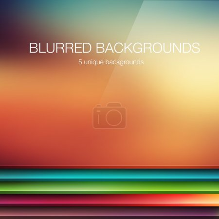 5 vector blurred backgrounds