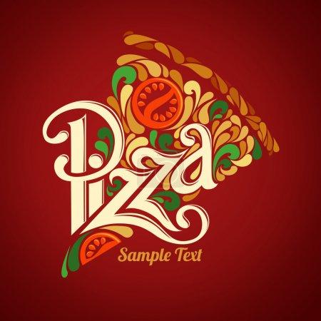 Illustration pour Modèle de conception de pizza - image libre de droit