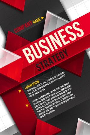 Illustration for Business background. Layer template - Royalty Free Image