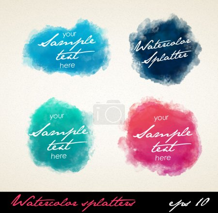 Illustration for Watercolor splatters. Vector - Royalty Free Image