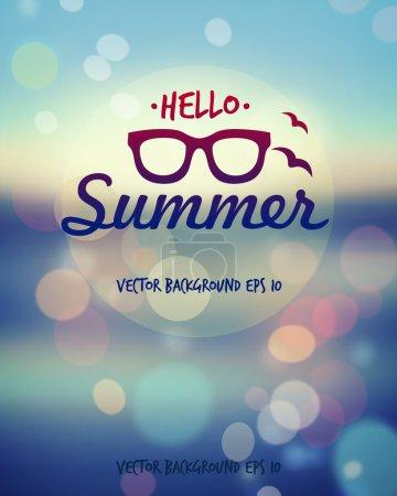 Illustration for Summer poster. - Royalty Free Image