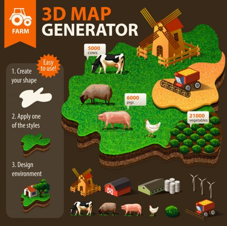 Illustration for Agriculture infographic elements - Royalty Free Image