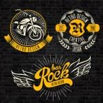 Rock themed badges. Vector...