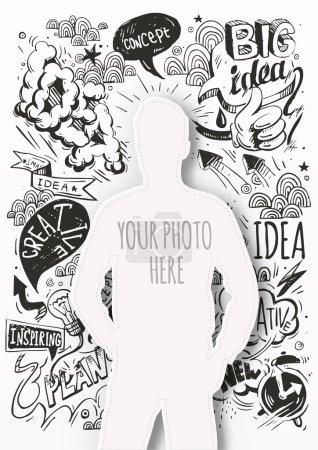 Illustration pour Gabarit créatif pour votre photo. idée - image libre de droit