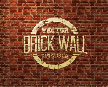Brick wall seamless vector pattern