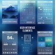 Set of various elements used for user interface...