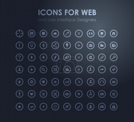Set of icons for web and user interface desig
