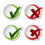 Vector circular check mark symbols - illustration...