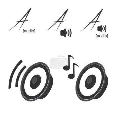 Vector speaker icons