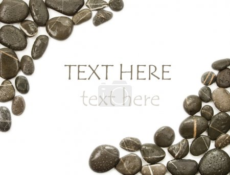 Photo pour Fond abstrait avec des pierres rondes - image libre de droit