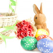 Easter eggs in the basket...