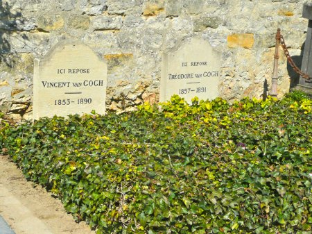 Tomb of Van Gogh brothers in Auvers-sur-Oise, France