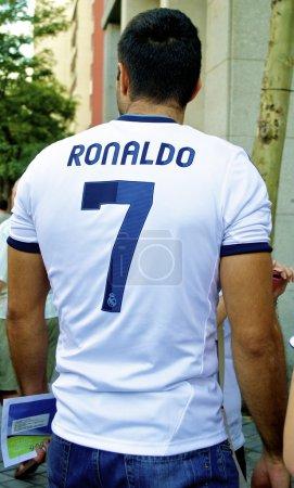 Fan in Cristiano Ronaldo shirt