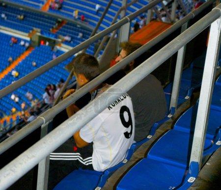 Young fan of Cristiano Ronaldo