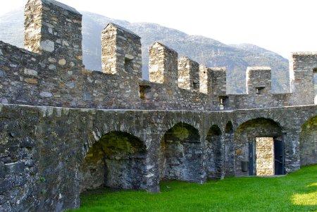 Bellinzona castle Montelbello, UNESCO world heritage in Bellinzona, Switzerland