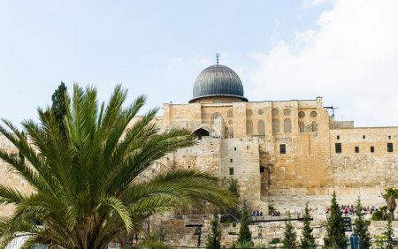 """Photo for Al-Aqsa (""""the farthest"""") mosque is located on the southern side of the temple mount of Jerusalem, Israel, and is the 3rd most holiest site in Islam. - Royalty Free Image"""