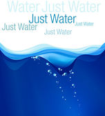 Water illustration place for text Vector clip art card wallpaper label template
