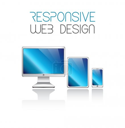 Illustration for Responsive web design in electronic devices vector eps10 - Royalty Free Image