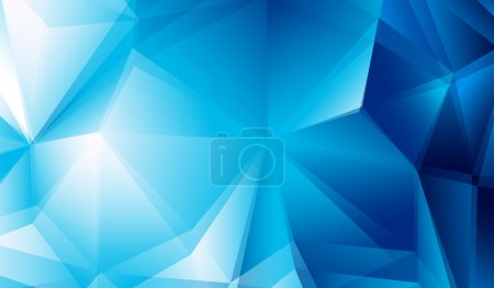 Blue geometric background. Icy, space theme