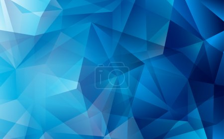 Illustration for Blue geometric background. Icy, space theme - Royalty Free Image