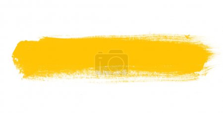 Photo for Yellow hand painted brush stroke daub background - Royalty Free Image