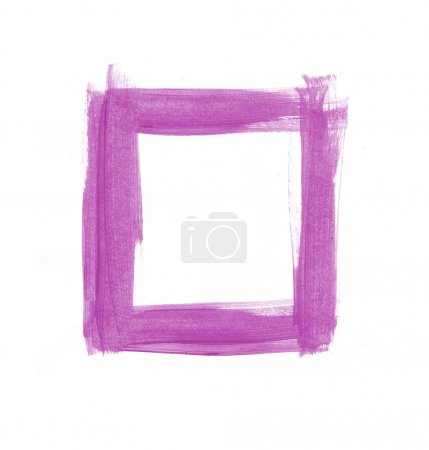 Purple hand painted square frame