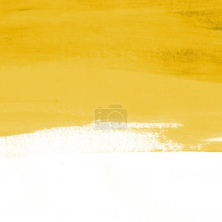 Photo for Yellow abstract hand-painted brush stroke daub background - Royalty Free Image