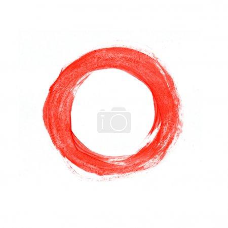 Photo pour Main rouge peint cercle - image libre de droit