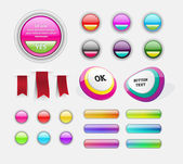 Assorted web buttons badges and ribbons