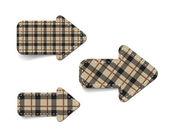 Brown vector tartan fabric textured arrows