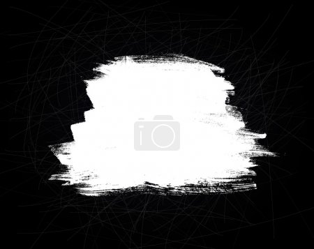 Abstract vector brush stroke on black scratched background