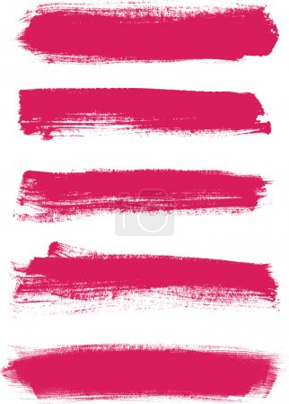Pink vector brush strokes collection
