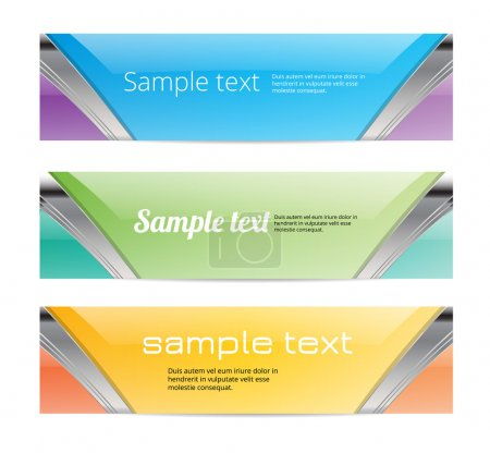 Abstract glossy colorful vector banners...