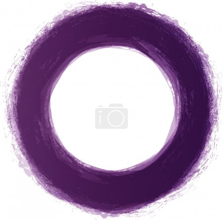 Vector hand-painted purple circle