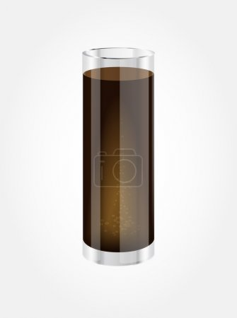 Vector highball glass with soda water