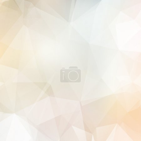 Illustration for Light soft colors subtle vector abstract polygonal background. Modern and trendy geometric pattern. Smooth and light tones. - Royalty Free Image