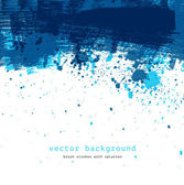 Blue colorful vector abstract brush stroke and splatter background