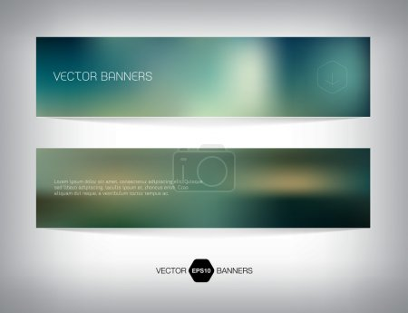 Illustration for Vector smooth web banner, business card or flyer design. Blurry unfocused photographic effect. Soft and modern background. Light and minimal. - Royalty Free Image